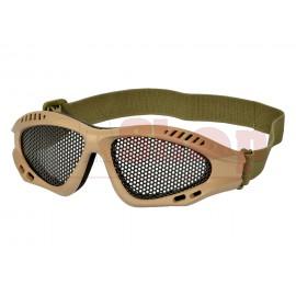 Combat Goggles Steel Mesh Tan