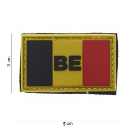 Belgium BE Flag Small PVC Patch