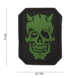 Devil Skull PVC Patch