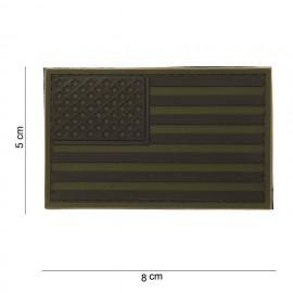 USA Flag PVC Patch OD