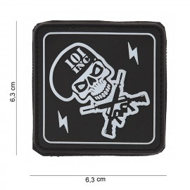 101 Inc Skull and Guns PVC Patch