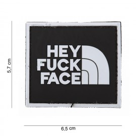 Hey Fuck Face PVC Patch