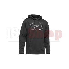 UA Fleece Storm Big Logo Hoody Black