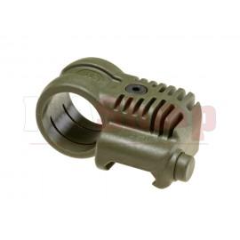 Picatinny QR Offset Flashlight Adaptor OD