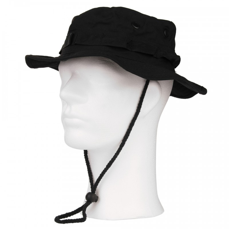 0dad082a9df Ripstop Boonie Hat Black - Iron Site Airsoft Shop
