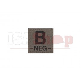 B Neg Bloodgroup Patch RAL7013