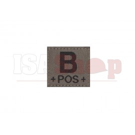 B Pos Bloodgroup Patch RAL7013
