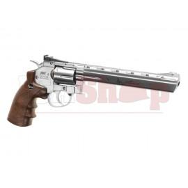 8 Inch Revolver Full Metal Chrome Co2