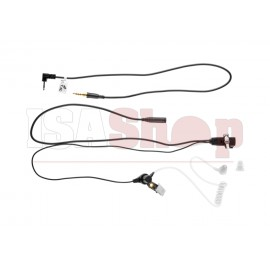 FBI Style Acoustic Headset Motorola Talkabout Connector