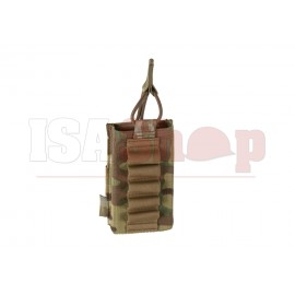 Single Open Mag Pouch 5.56mm with Shotgun Strip Multicam