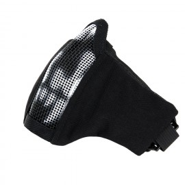 Half Face Mask V2.0 Skull Black