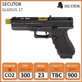 Gladius 17 Series Custom Pistol (Gold Barrel) Co2