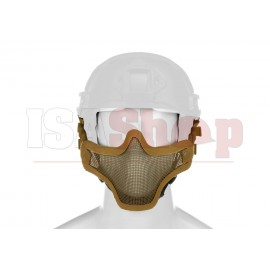 Steel Half Face Mask FAST Version Tan