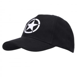 Baseball Cap Allied Star WWII Black