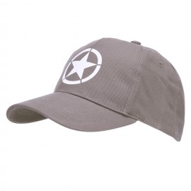 Baseball Cap Allied Star WWII Grey
