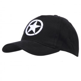 Baseball Cap Allied Star 3D Black