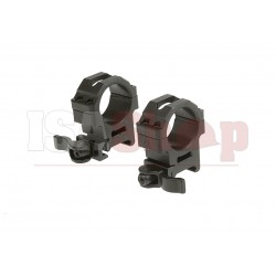 QD 30mm CNC Mount Rings Medium