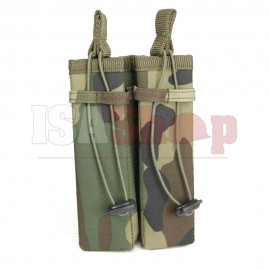 Molle Pouch Side Arm 2 Mags Woodland