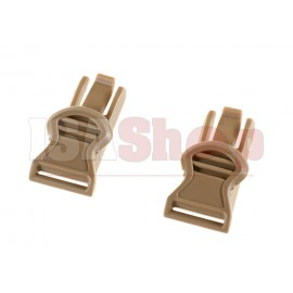 Goggle Swivel Clips 19mm FDE
