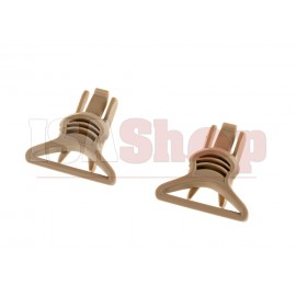 Goggle Swivel Clips 36mm FDE