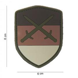 Germany Shield Sword PVC Patch Desert