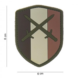 Belgium Shield Swords PVC Patch