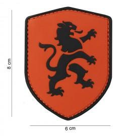 Dutch Lion Shield PVC Patch Orange
