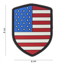 USA Shield PVC Patch Color