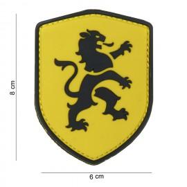 Dutch Lion Shield PVC Patch Yellow