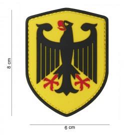 German Eagle Shield PVC Patch Yellow
