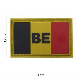 Belgium BE Flag Big PVC Patch