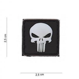 Punisher PVC Patch Red