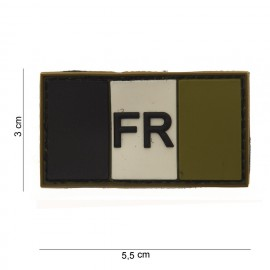 France Flag PVC Patch Subdued