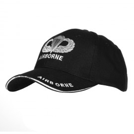 Army Airborne Baseball Cap Black