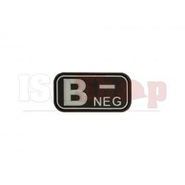 Bloodtype Rubber Patch B Neg SWAT