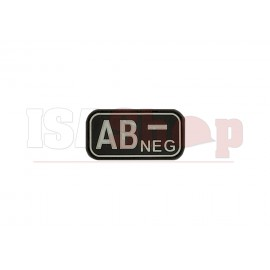 Bloodtype Rubber Patch AB Neg SWAT