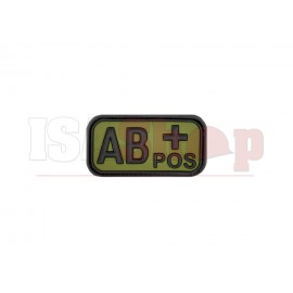 Bloodtype Rubber Patch AB Pos Forest