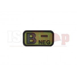 Bloodtype Rubber Patch B Neg Forest