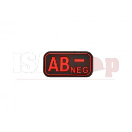 Bloodtype Rubber Patch AB Neg Blackmedic