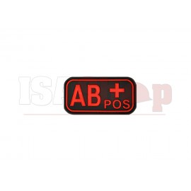 Bloodtype Rubber Patch AB Pos Blackmedic
