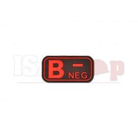 Bloodtype Rubber Patch B Neg Blackmedic