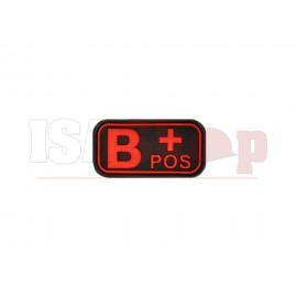 Bloodtype Rubber Patch B Pos Blackmedic