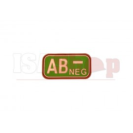 Bloodtype Rubber Patch AB Neg Multicam