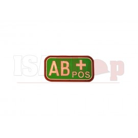 Bloodtype Rubber Patch AB Pos Multicam