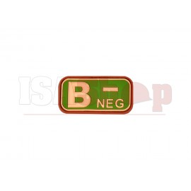 Bloodtype Rubber Patch B Neg Multicam