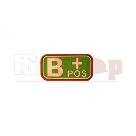 Bloodtype Rubber Patch B Pos Multicam