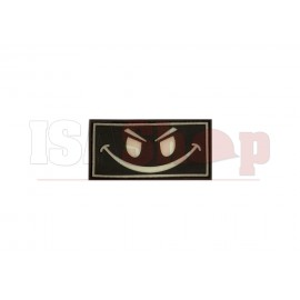 Evil Smiley Rubber Patch Glow in the Dark