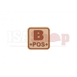 Bloodtype Square Rubber Patch B Pos Desert