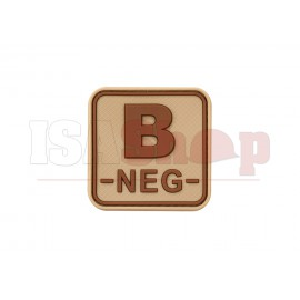 Bloodtype Square Rubber Patch B Neg Desert