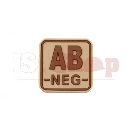 Bloodtype Square Rubber Patch AB Neg Desert